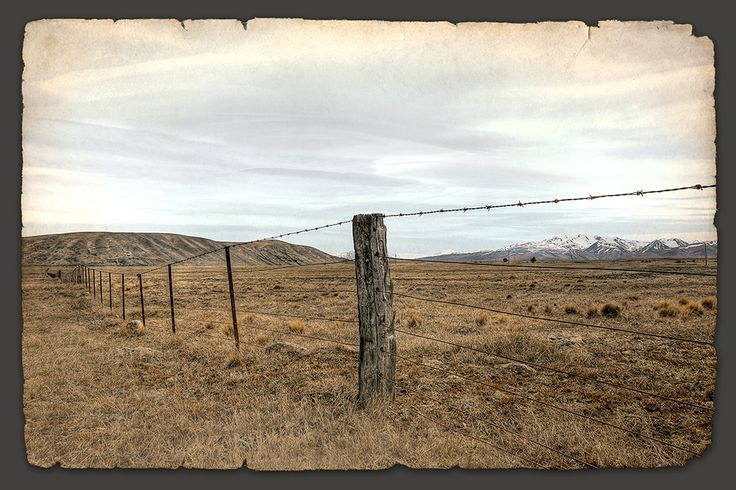 Distant Hills and no.8 wire! By Nathan Secker. Artprints available from www.imagevault.co.nz