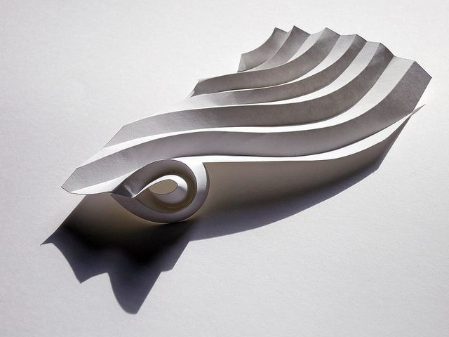 Paper Workshop: Curved Pleat by Richard Sweeney, via Flickr
