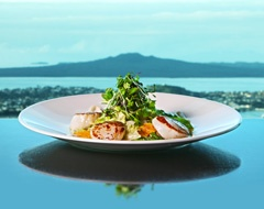 @Orbit Revolving Restaurant - Scollops with Rangitoto