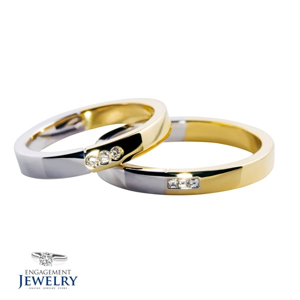 Set verighete cu diamant PAL-VEG-006