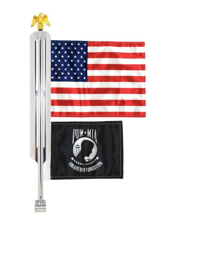 Motorcycle Flag Mount 2 Flags