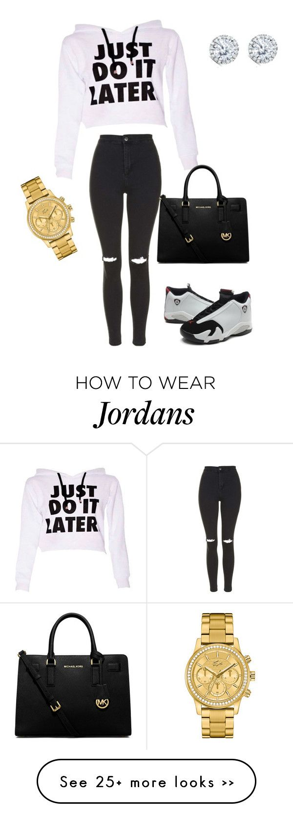 """""""a day out shopping"""" by jessica2223 on Polyvore featuring Topshop, MICHAEL Michael Kors, Kobelli and Lacoste"""