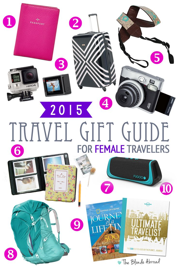This holiday travel gift guide for the female traveler will help you shop for that special, wanderlusting lady in your life!