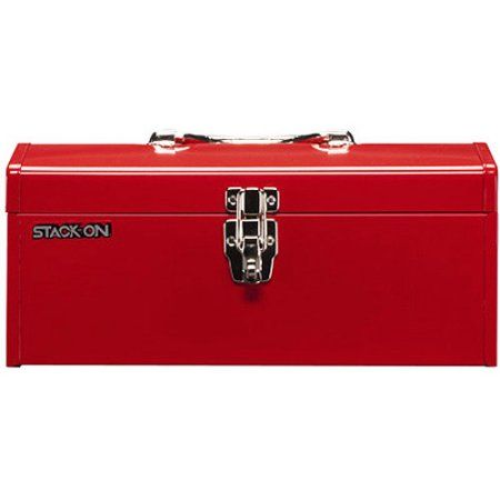 Stack-On 16 inch Metal Hip Roof Tool Box, Multicolor