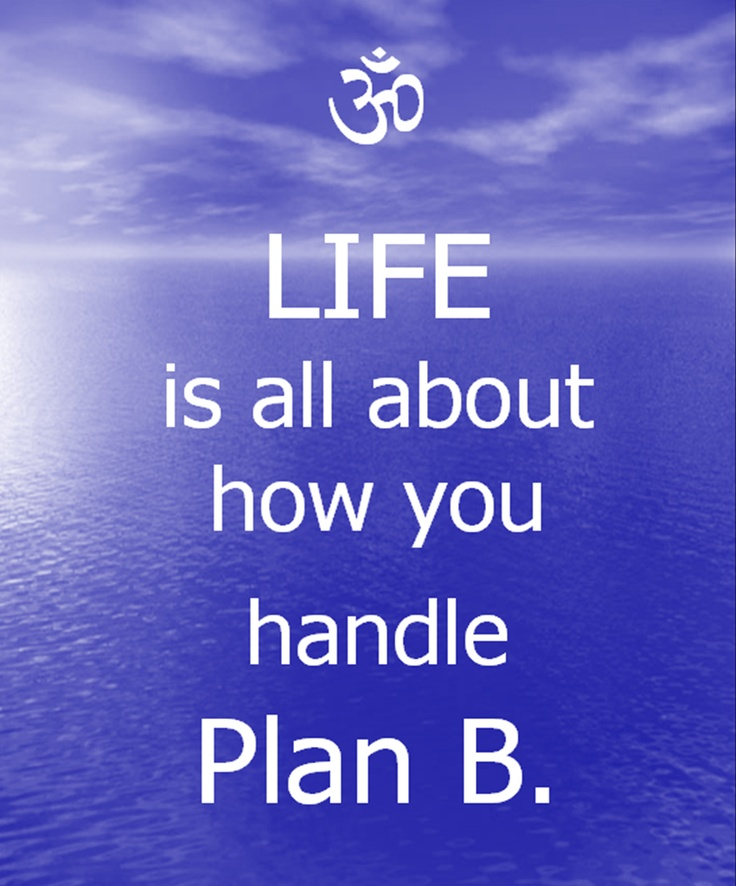 "Yeah my plan ""B"" was much better than A, that's for sure."