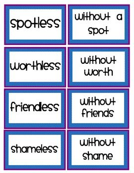 15 best poems images on pinterest poetry unit teaching poetry and suffix match up game with recording sheet less ly ful fandeluxe Images