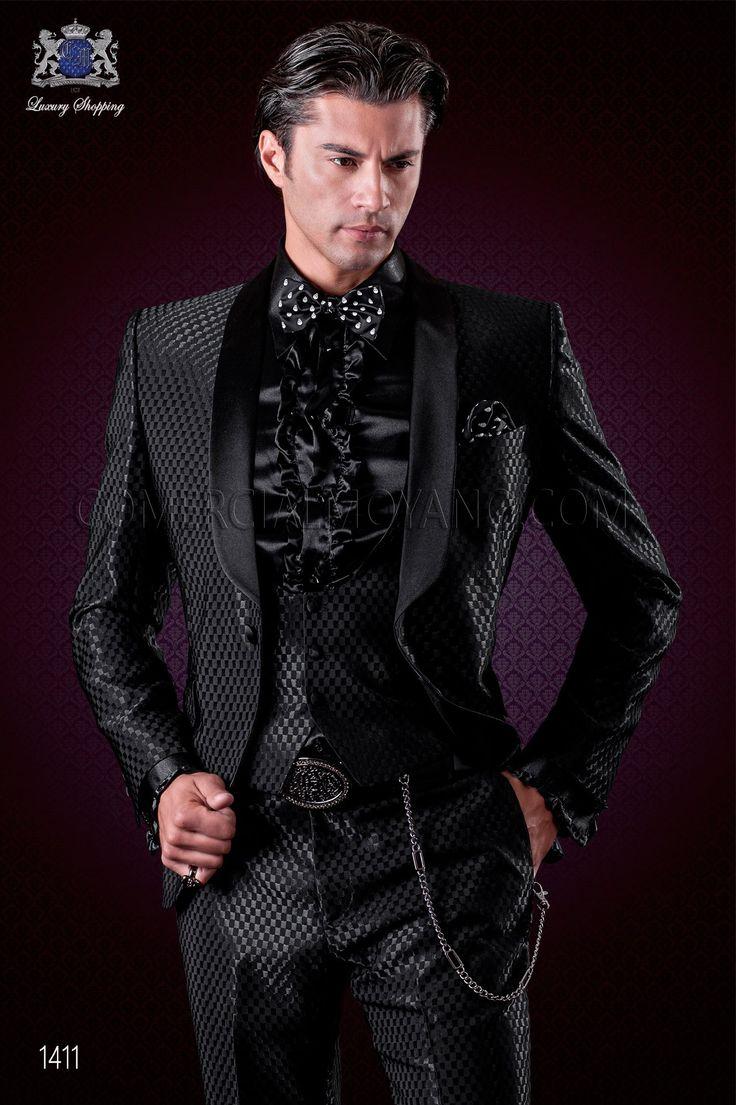 italienische anzug schwarz monochrome design ottavio. Black Bedroom Furniture Sets. Home Design Ideas