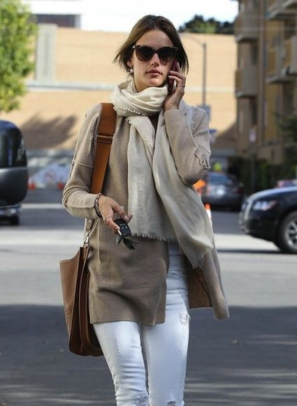 Alessandra Ambrosio Style w: Hermes Handbag Rag Bone Boots-01