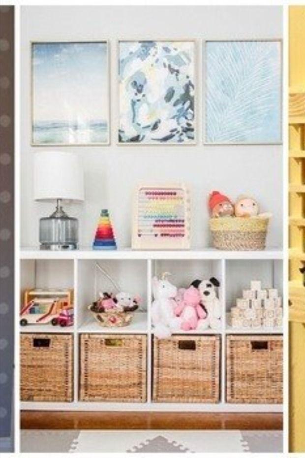 بالصور أفكار مختلفة لتخزين لعب الأطفال في المنزل ببراعة Modern Playroom Basement Playroom Playroom
