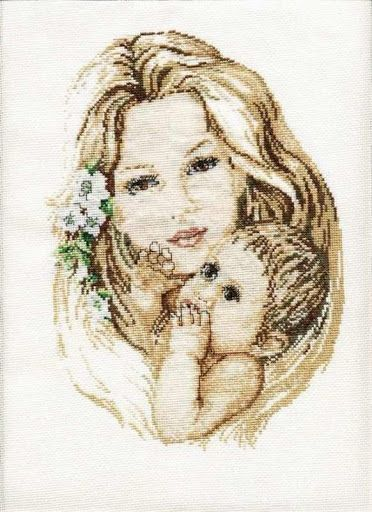 Mothers Love - Counted cross stitch patterns and charts