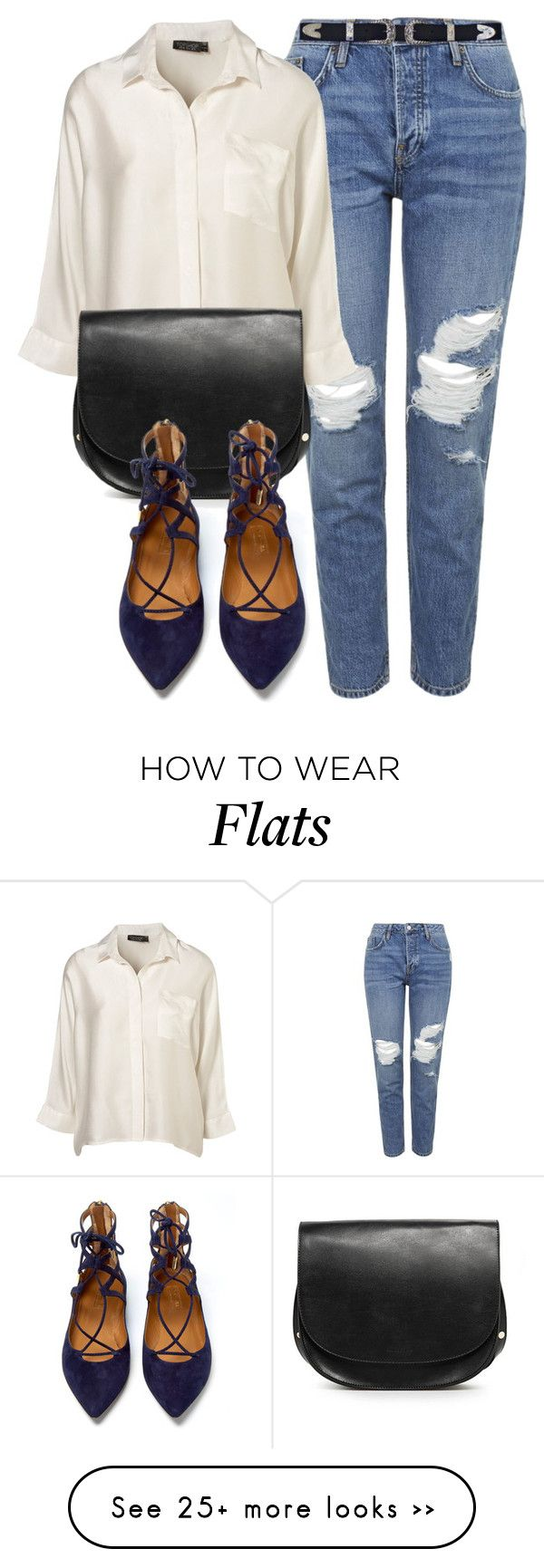 """Untitled #4390"" by laurenmboot on Polyvore featuring Topshop, MANGO and Aquazzura"