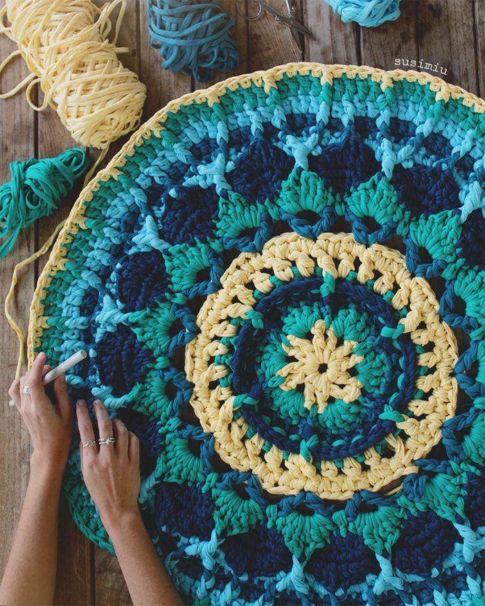 Mandala de trapillo www.susimiu.es                                                                                                                                                                                 Más