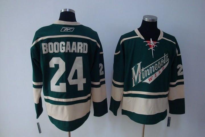 $32.00 NHL Jerseys Minnesota Wild Derek Boogaard #24 Green