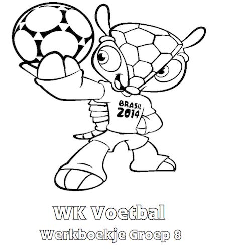 WK Voetbal Werkboekje Groep 8 - Klaarwerk.nl