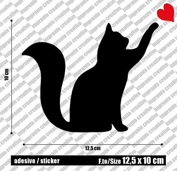 STG013  Gatto Love  125x10 cm di IMPRONTECREATIVE su Etsy, €3.99