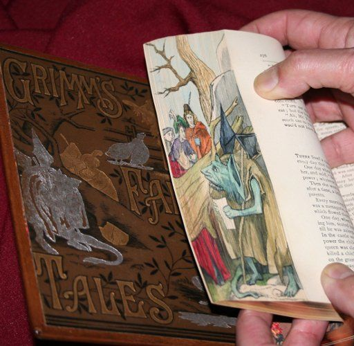 fore edge painting on grimm's fairy tales (daily art fi) | book ...