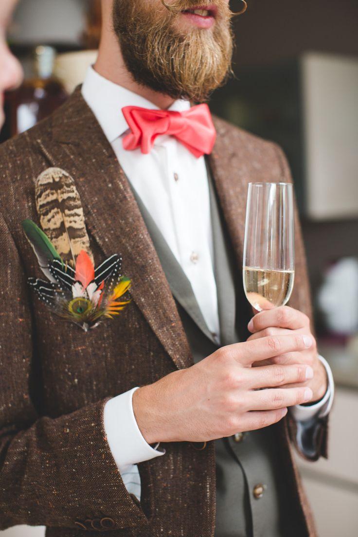 Veren als corsage, super bohemian! //Foto: Nienke van Denderen.