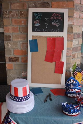 4th of July Gender Reveal...Uncle Sam or Lady Liberty?!❤️