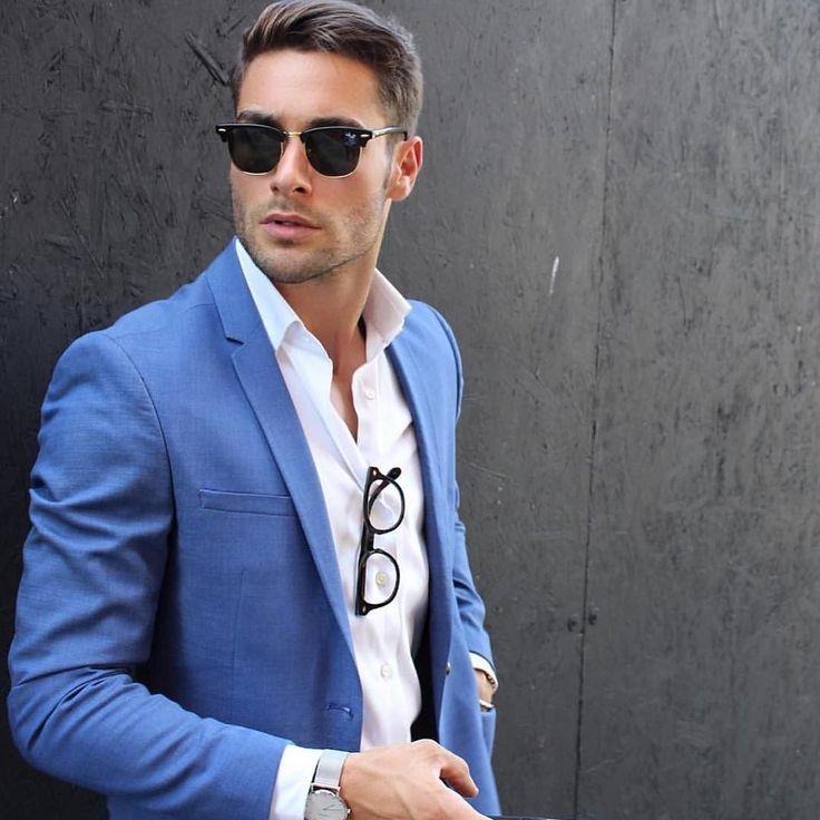 25  best ideas about Light blue suit on Pinterest | Summer wedding ...