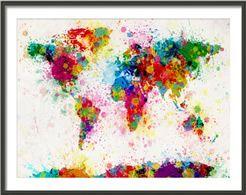 Paint splodge map