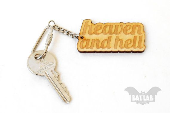 Word Keychain from wood  Wooden keychain  Engraved by BatLab