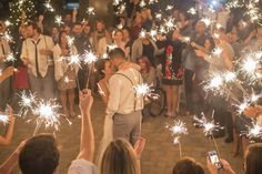 Sparkler First Dance at Casual Backyard Wedding                                                                                                                                                      More