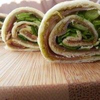 Wrap rolletjes met pesto en ham : Recepten van Domy