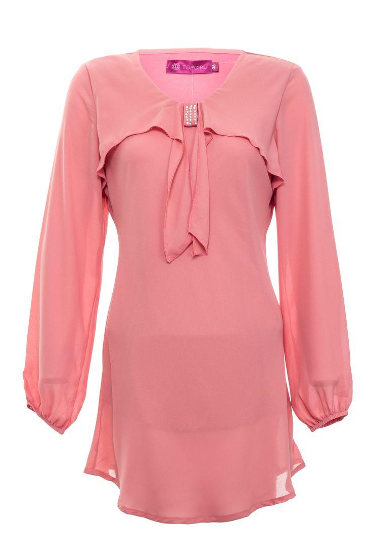 Ribboned Chiffon Blouse | TOPGIRL Malaysia - Plus sizes - Muslim-Friendly Fashion