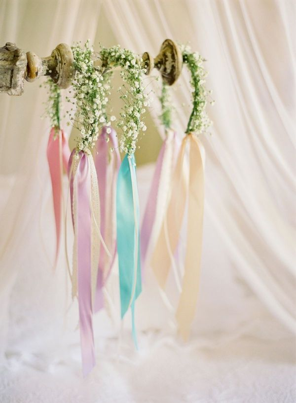 baby breath headpieces for the flower girls #flowergirl