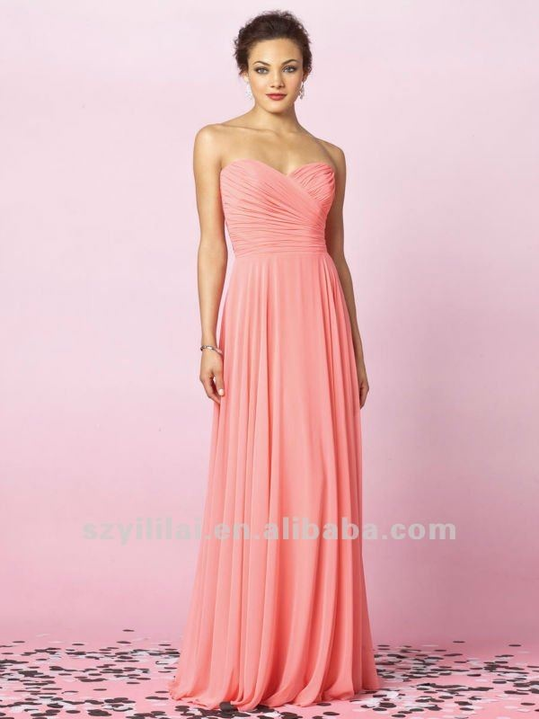 Elegant_Peach_Chiffon_Sweetheart_Bridesmaid_Dresses.jpg 600×800 pixel