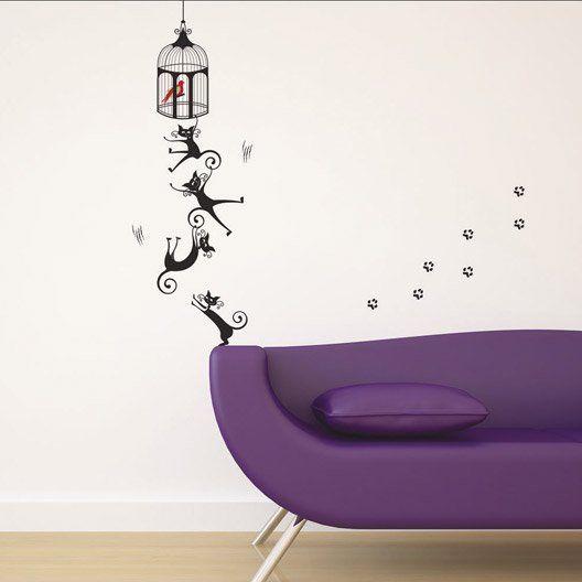 "Sticker avec motif chats en escalade. #leroymerlin #chat #cat ""sticker #ideedeco #madecoamoi"
