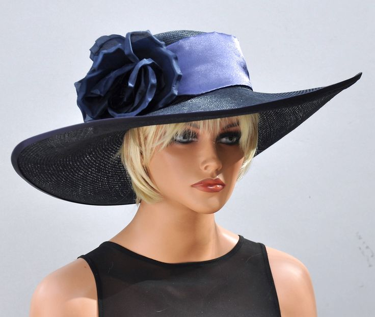 Excited to share the latest addition to my #etsy shop: Wedding Hat, Kentucky Derby Hat, Derby Hat, Navy Hat, Ascot Hat, Formal Hat, Wide Brim Hat http://etsy.me/2n4HWGF #accessories #hat #blue #weddinghat #kentuckyderbyhat #derbyhat #ascothat #navyhat #widebrimhat
