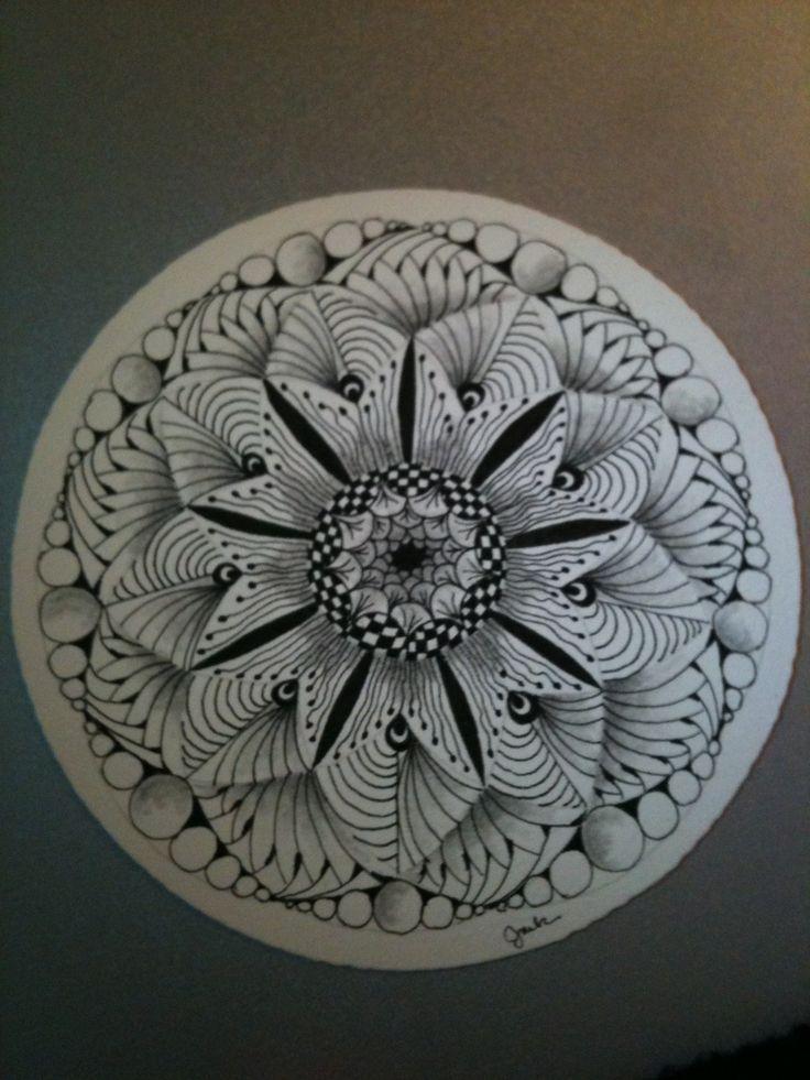 Zentangle Mandala | Zentangle | Zentangle-MANDALA