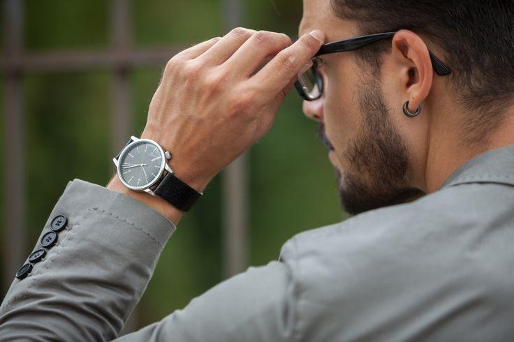 "Komono watch, ""black"" edition ✔️ #watch #details #fashionblogger"