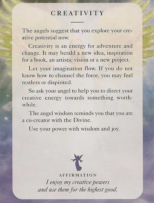 Today's Angel Card – Creativity - Diana Cooper