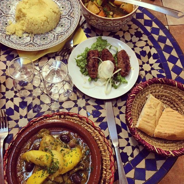 Morrocan food 👌#couscous #tajine #kefta #tabledemarrakech #sogood @pushthestart_