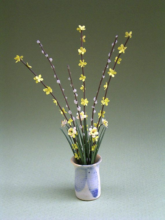 Hey, I found this really awesome Etsy listing at https://www.etsy.com/listing/163842379/forsythia-and-pussy-willow-paper-flower