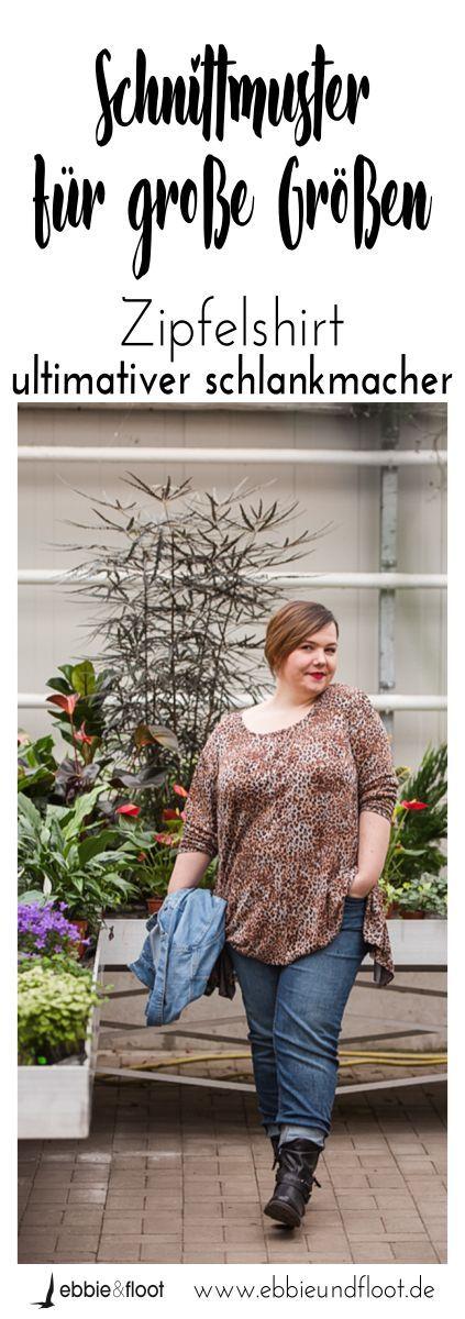 Damen Schnittmuster für große Größen – Zipfelshirt
