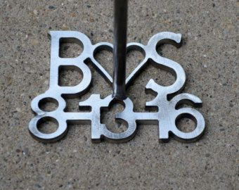 Custom Branding Iron with Date and Initials by theweldedkeller