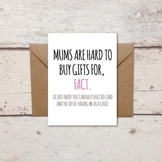 Funny Mum Birthday Card Mum Present Mum Hard To Buy For Etsy Birthday Cards For Mum Presents For Mum Birthday Cards