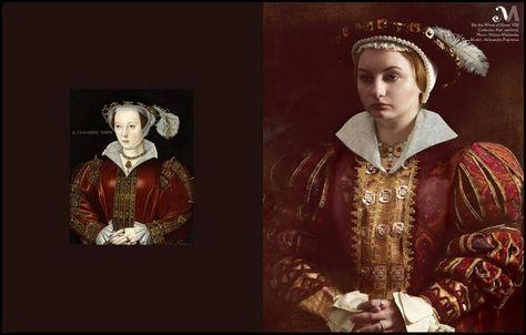The six wives of King Henry VIII back to life : Catherine Parr. Photography: Milena Murawska, model: Aleksandra Popowicz