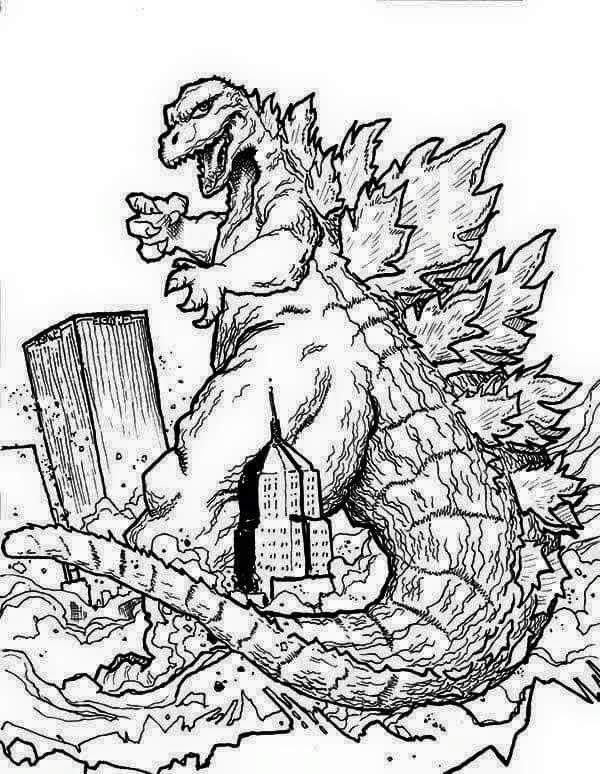 Pin By Cw On Godzilla In 2019 Godzilla Dinosaur Coloring Pages