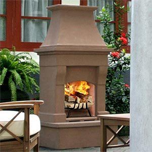 2 199 00 Desert Tan Outdoor Wood Burning Fireplace Mortar Free Easy Assembly See More Outdoor