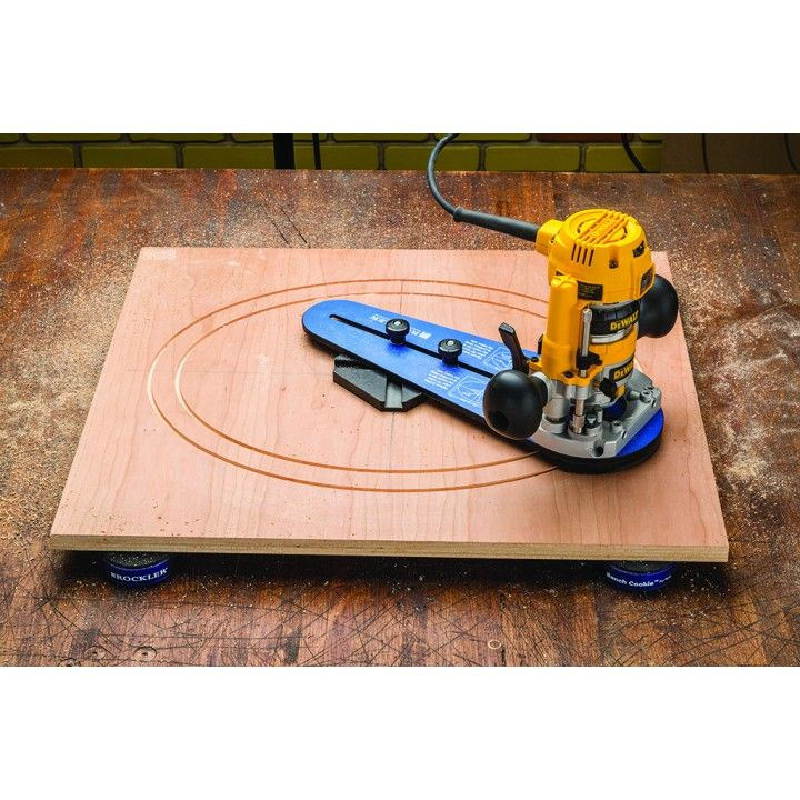 Rockler compact router ellipse and circle jig plunge for Diy router