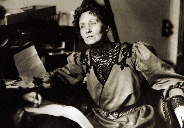 Emmeline Pankhurst, the founder of the Women's Social and Political Union and a leading light in the suffragette struggle to gain women the vote - Britain - 1903
