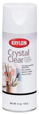 Krylon 6-Ounce Crystal Clear Acrylic Coating Aerosol Spray