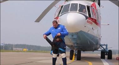 Worlds Most Heavy Helicopter Mi 26 Pulling Performance
