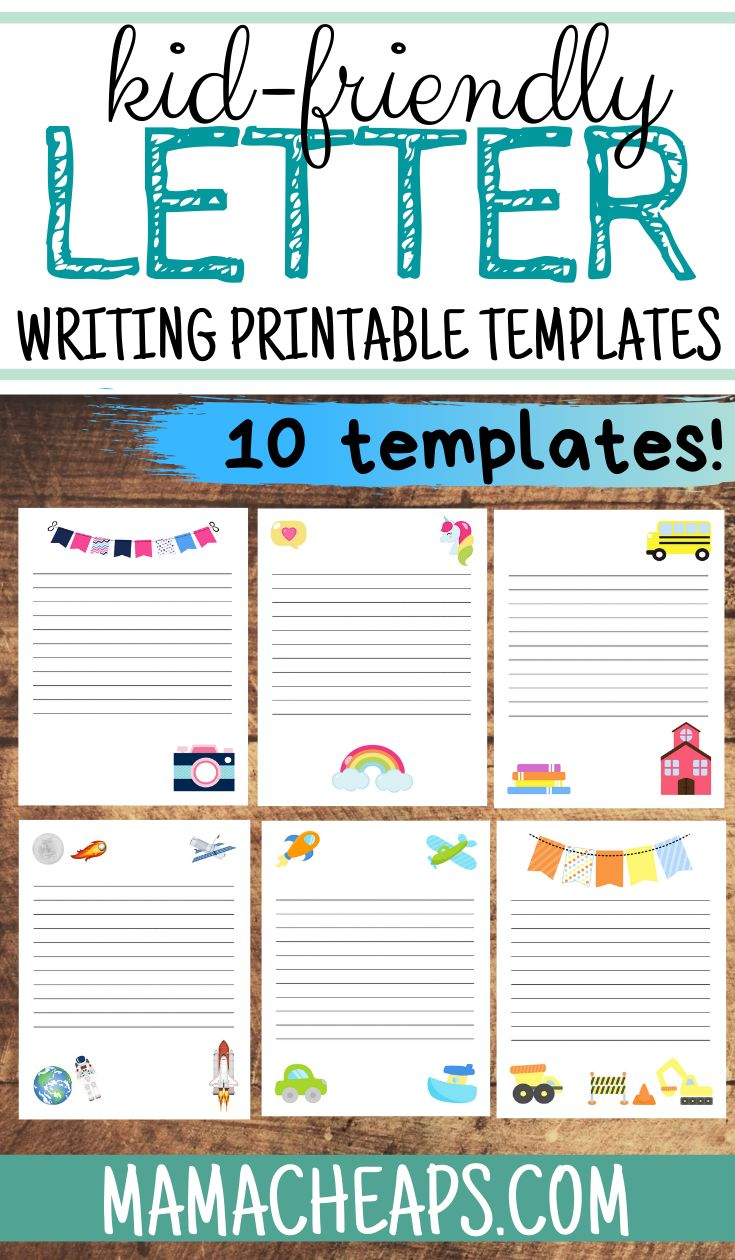 Letter Writing Templates For Kids 10 Different Themes Mama Cheaps Letter Writing Template Letter Template For Kids Writing Templates [ 1260 x 735 Pixel ]