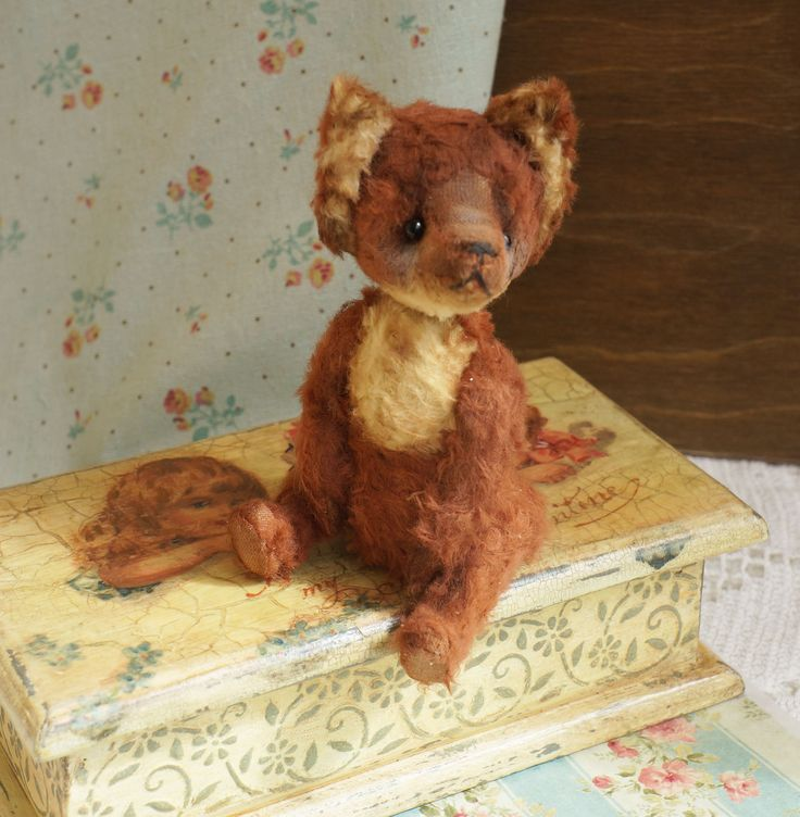 Stuffed Fox Red - Fox animal - OOAK artist teddy fox, Red Fox, OOAK art teddy, bear clown, OOAK art red Fox, Plush red fox, by RussianshawlRustic on Etsy