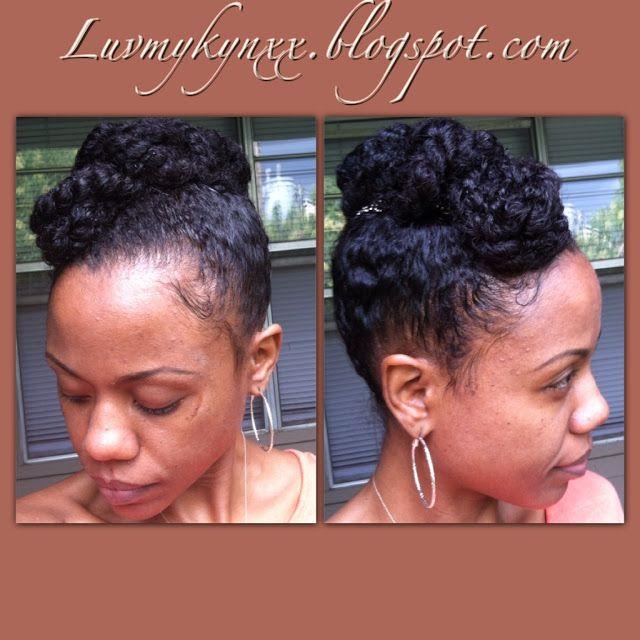 banana clip natural hair | Protective Styling~Banana Clip Updo #2
